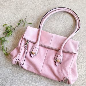 B. Makowsky Light Pink Leather Shoulder Purse